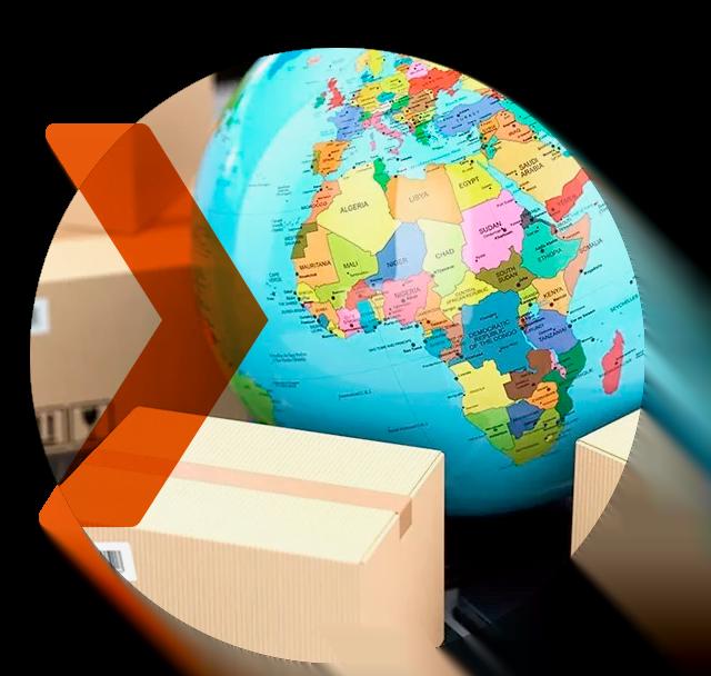 Exportação de encomendas, mercadorias e commodities